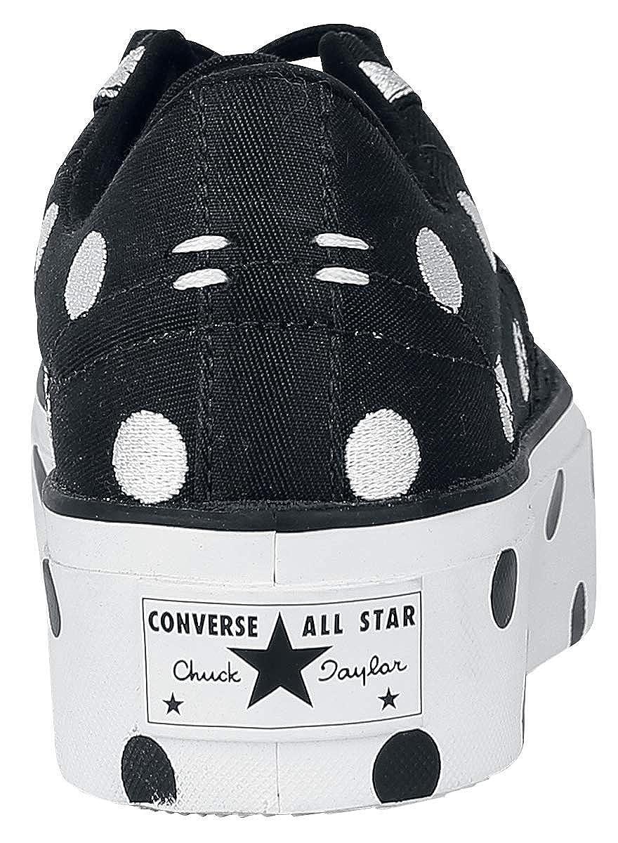 Converse Converse Converse One Star Platform Ox Scarpe Sportive Nero Bianco d85307