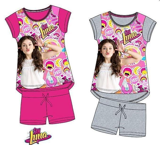 Pijama Soy Luna Calidad Premium (6, Gris)