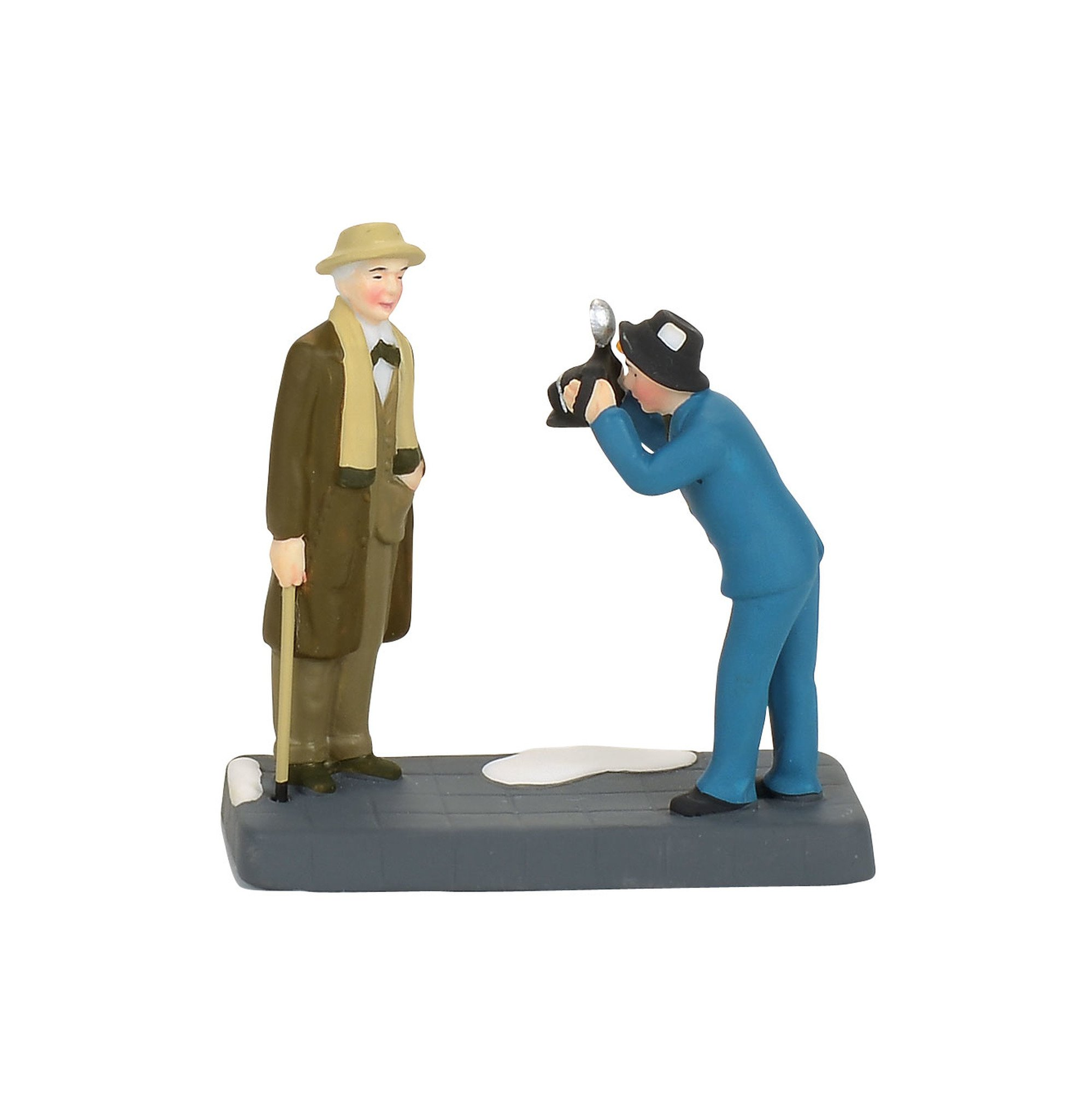 Department 56 Christmas in The City Frank Lloyd Wright Newspaper Photo Figurine Village Accessory, Multicolor