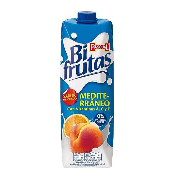 Bifrutas - Zumo de frutas Mediterráneo y leche - 1 L - [Pack de 8
