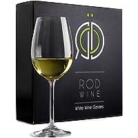 Witte wijnglazen set - fijnste titanium kristal glas, loodvrije 350ml kom, lang steelglaswerk voor grote proeverij wijn…
