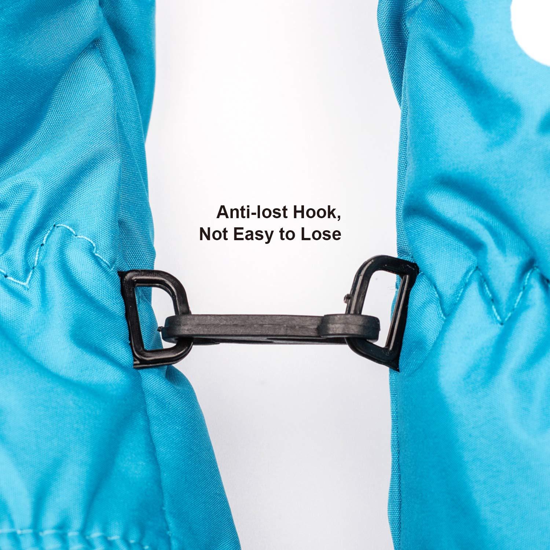Eshall Gants Enfant Bleu Gants de Ski Coupe-Vent Moufle de Snowboard Hiver pour Fille Gar/çon de 3-5 Ans