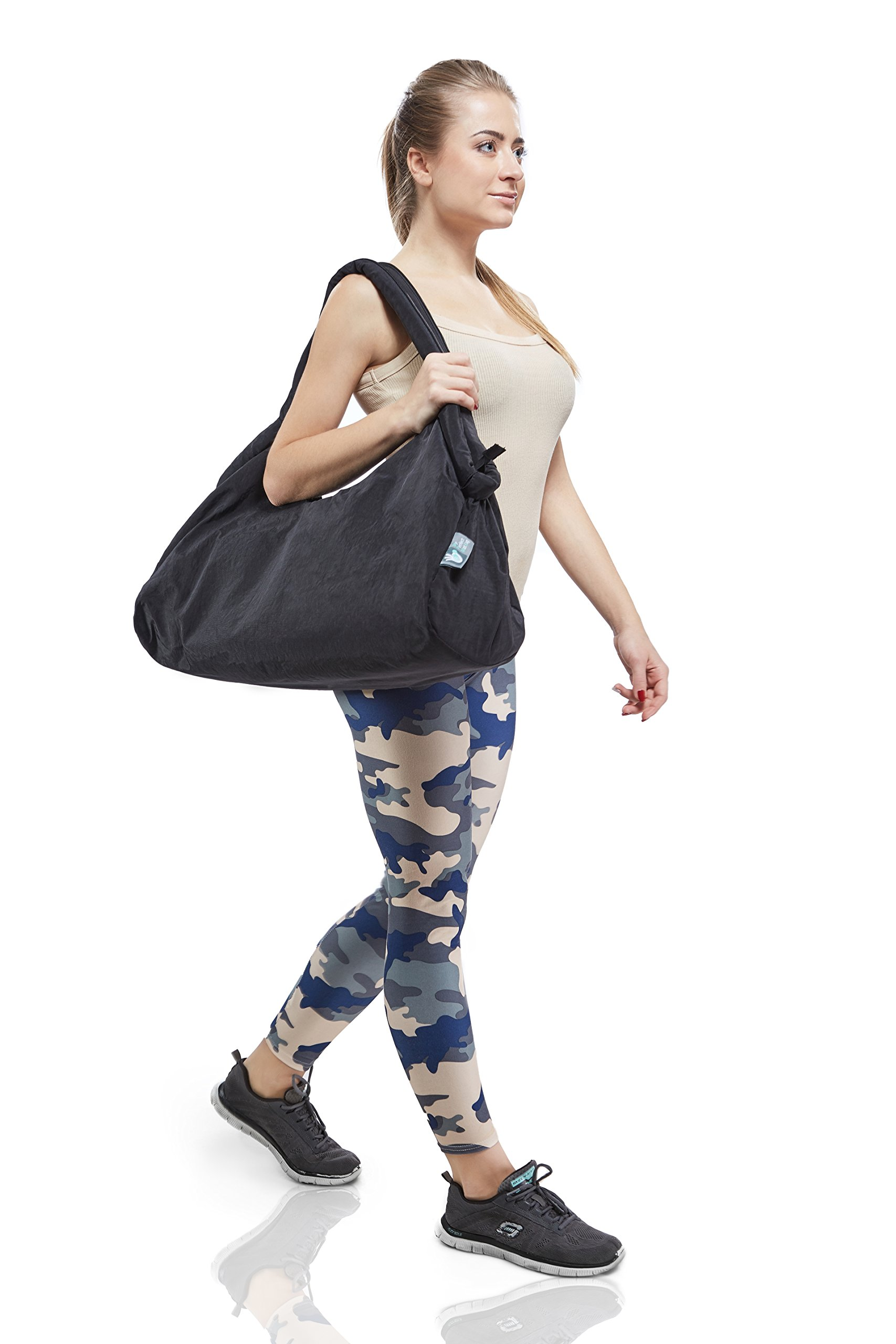 Duffle Bag Women for Gym, Travel and Yoga studio 3 IN ONE black by My Perfect Mat Bag