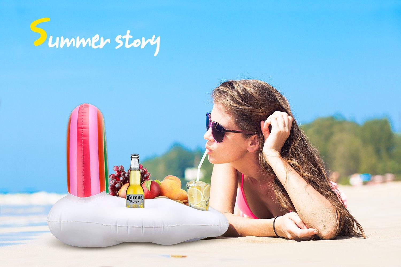 Amazon.com: heysplash hinchable soporte para bebidas, arco ...