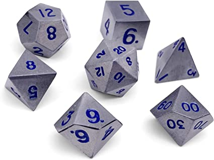 Amazon Com Set Of 7 Atomic Metal Full Metal Polyhedral Dice By Norse Foundry Rpg Math Games Dnd Pathfinder Toys Games Kings of metal dice, coins, pin and tabletop and rpg accessories since 2011. amazon com