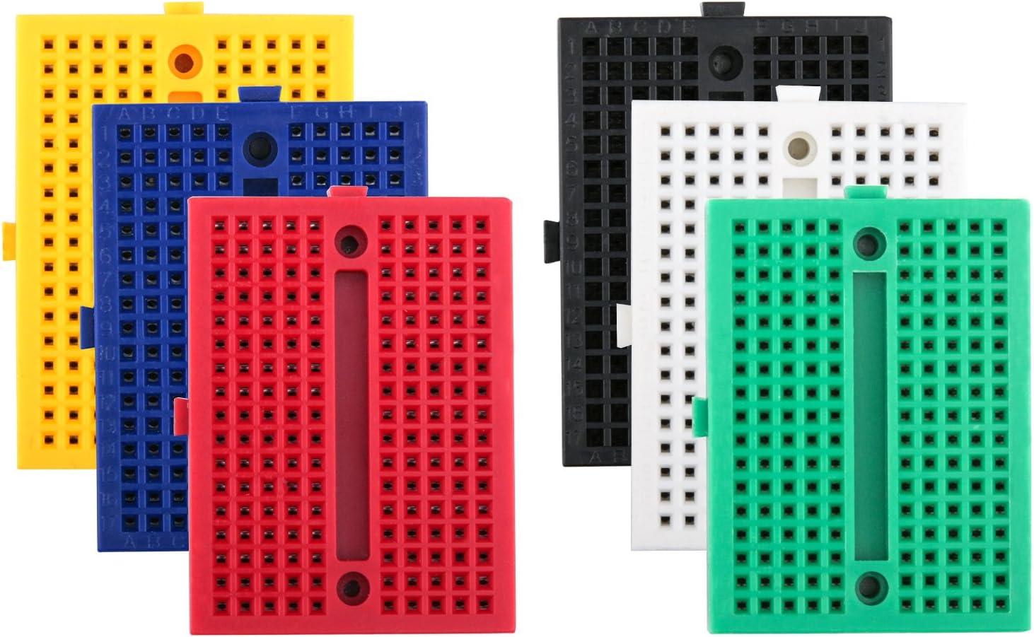 6 Color Mini Solderless Prototype Breadboard 170 Tie-points for 2017 ~