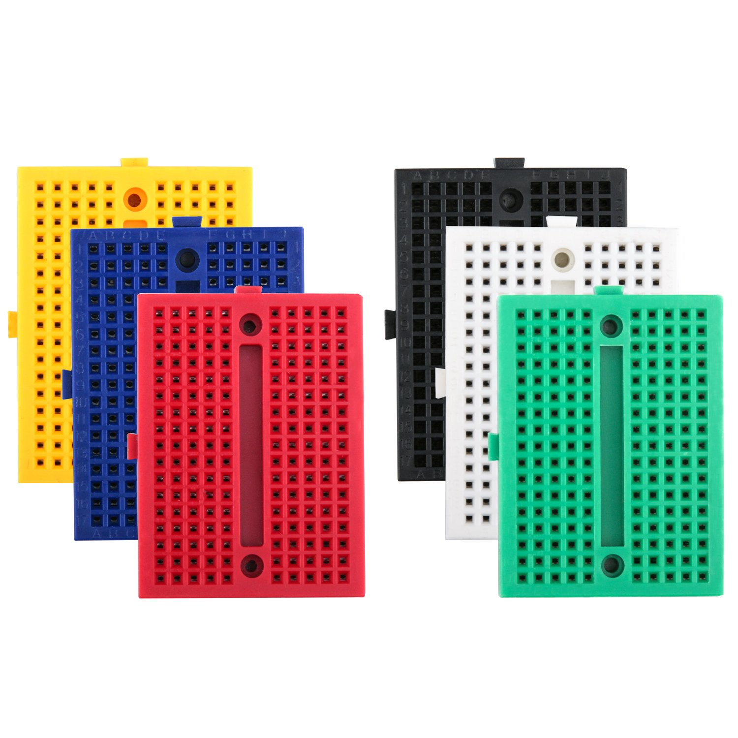 Elegoo 6er Set 170 Tie Points Mini Breadboard Kit: Amazon.de ...