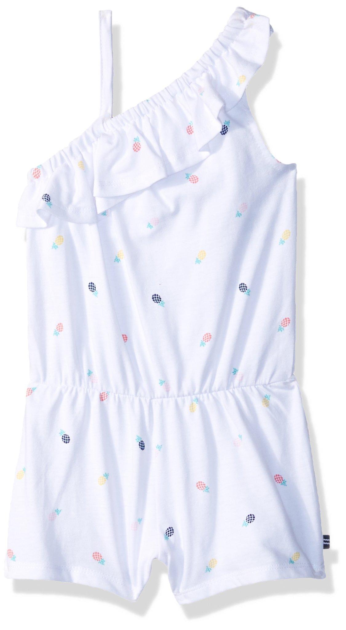 Nautica Baby Girls Fashion Romper, White Pineapple, 18M