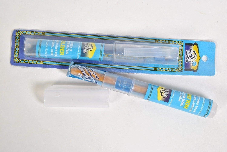 Miswak Siwak - Cepillo de dientes de madera con soporte: Amazon.es: Salud y cuidado personal