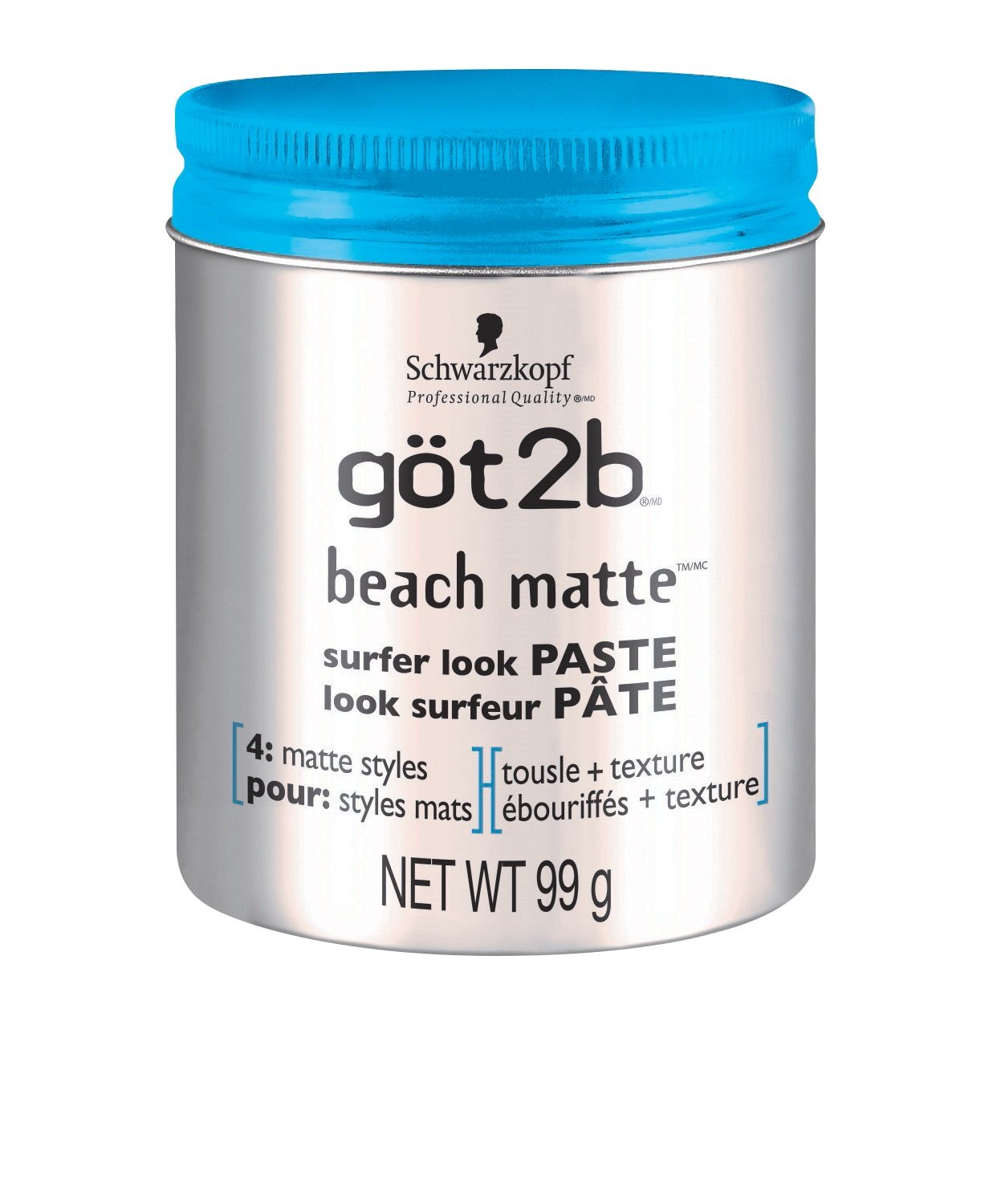 got2b Beach Matte Surfer Look Paste for Matte Styles, 99g (2117589) Henkel Canada