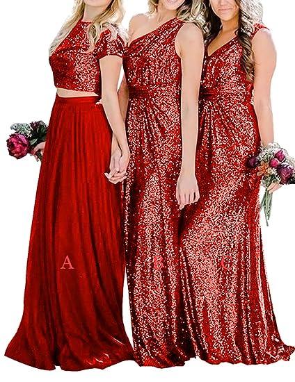 selección mundial de Venta caliente 2019 lindos zapatos H.S.D Vestidos de Dama de Honor con Lentejuelas para Baile ...
