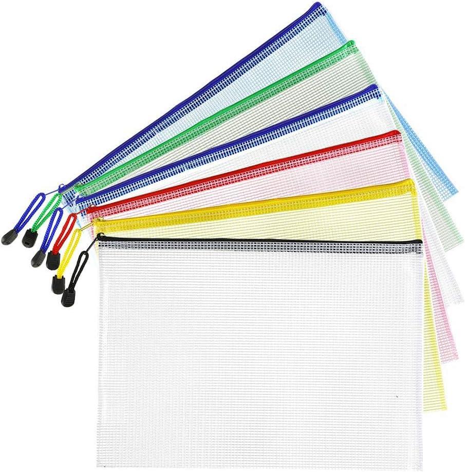 Brief Gr??E Wasserdichte Dokumenten Tasche f/ür Schule B/üRo Bedarf Aufbewahrung zu Organisieren Kunst Handwerk YeBetter 18 St/üCke Kunststoff Mesh Zip Dokumenten Halter