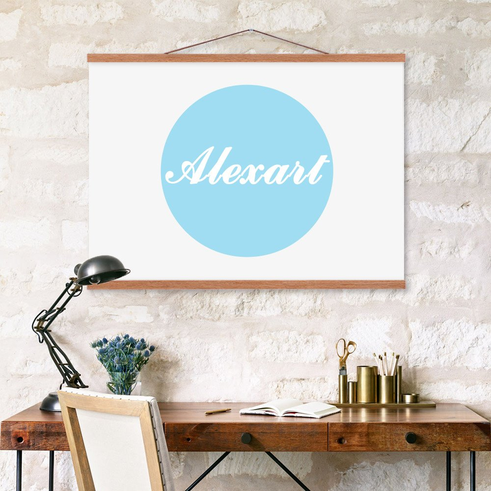 AlexArt Flat Earth Map Gleasons New Standard Map of The World 20X30 Canvas Print Scroll Poster with Black Plastic Scroll Hanger Ready to Hang