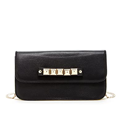SUSU Leather Knuckle Clutch Purse Black Clutch Bag Crossbody Bag Designer  Handbags Designer Purses  Handbags  Amazon.com cb7e72f7c1c8a