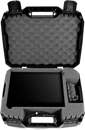 CASEMATIX Travel Case Compatible with Xbox One X - Hard Shell Xbox One X Carrying Case with Protective Foam Compartments for Console, Controller, Power Adapter, Games and More Accessories