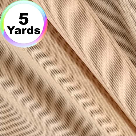 by the Yard Nude Power Mesh Fabric