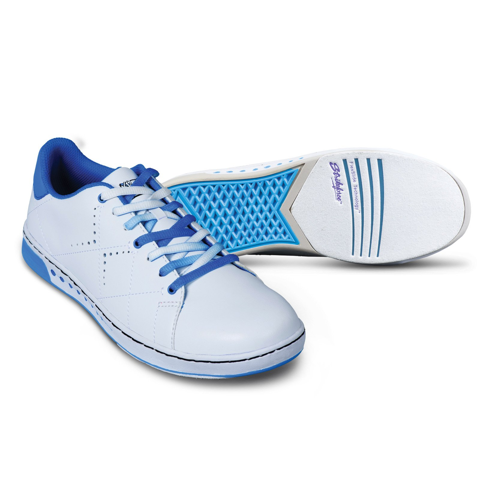 KR Strikeforce Women's Gem Wide Width Bowling Shoes, White/Blue, Size 8.5 by KR Strikeforce