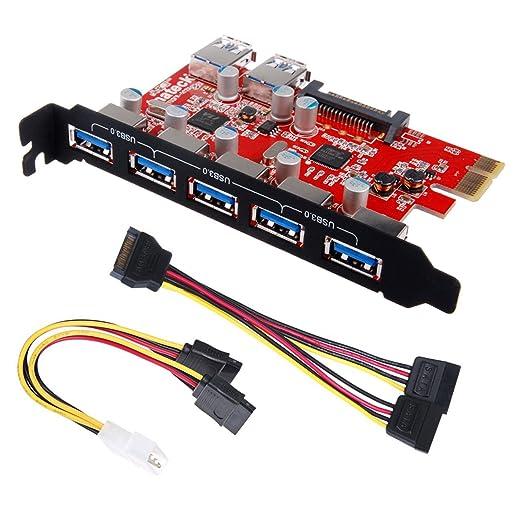 21 opinioni per Inateck Scheda di Espansione USB 7 Porte-Interfaccia PCI-E to USB 3.0 con 5