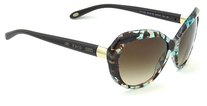 Amazon.com: Tiffany & Co. TF 4122 Mujer anteojos de sol café ...