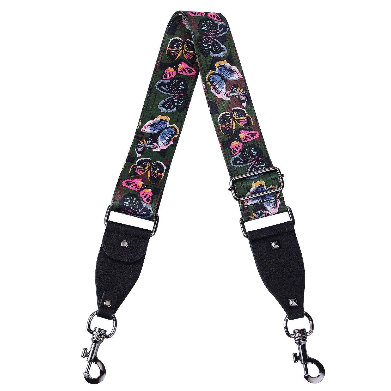 VanEnjoy Purse Strap Replacement Multicolor Nylon Aajustalble Crossbody Bag Straps for Handbags 2 Wide,35-52 Long