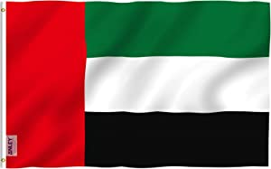 Anley Fly Breeze 3x5 Feet Arab Flag - Vivid Color and Fade Proof - Canvas Header and Double Stitched - Arabic Flags Polyester with Brass Grommets 3 X 5 FT