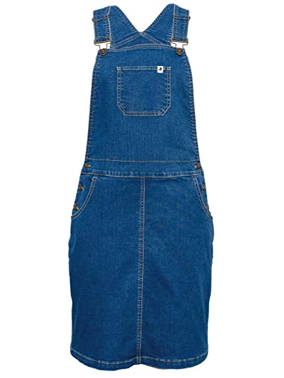 3ba83f57d361 Brakeburn Ladies Denim Pinafore Dress Stretch Denim Fabric: Amazon.co.uk:  Clothing