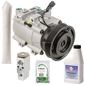 AC Compressor w/A/C Repair Kit For Hyundai Santa Fe 2 7L V6 2001 2002 2003  2004 2005 2006 - BuyAutoParts 60-80292RK New