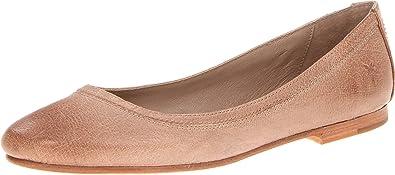 FRYE Womens Carson Ballet Flat Grey Buffed Nubuck 6 5 M US B00LMGBLS6