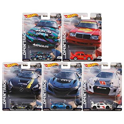 Car Culture Hot Wheels 2020 Open Track Series Set of 5, 1/64 Scale Diecast Cars: Toys & Games