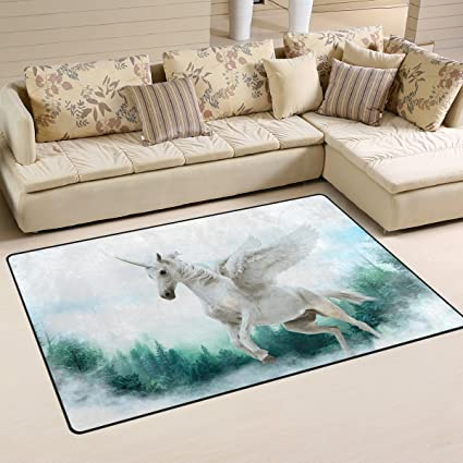 Amazon Com Deyya Leap Unicorn Non Slip Area Rugs Home Decor Mat