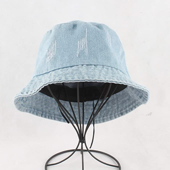 eedde4d92d6e0 Summer Washed Denim Bucket Hat Women Fashion Sun Cap Fishing Hats ...