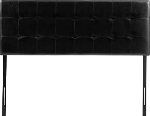 AmazonBasics Modern Tufted Vinyl Upholstered Headboard