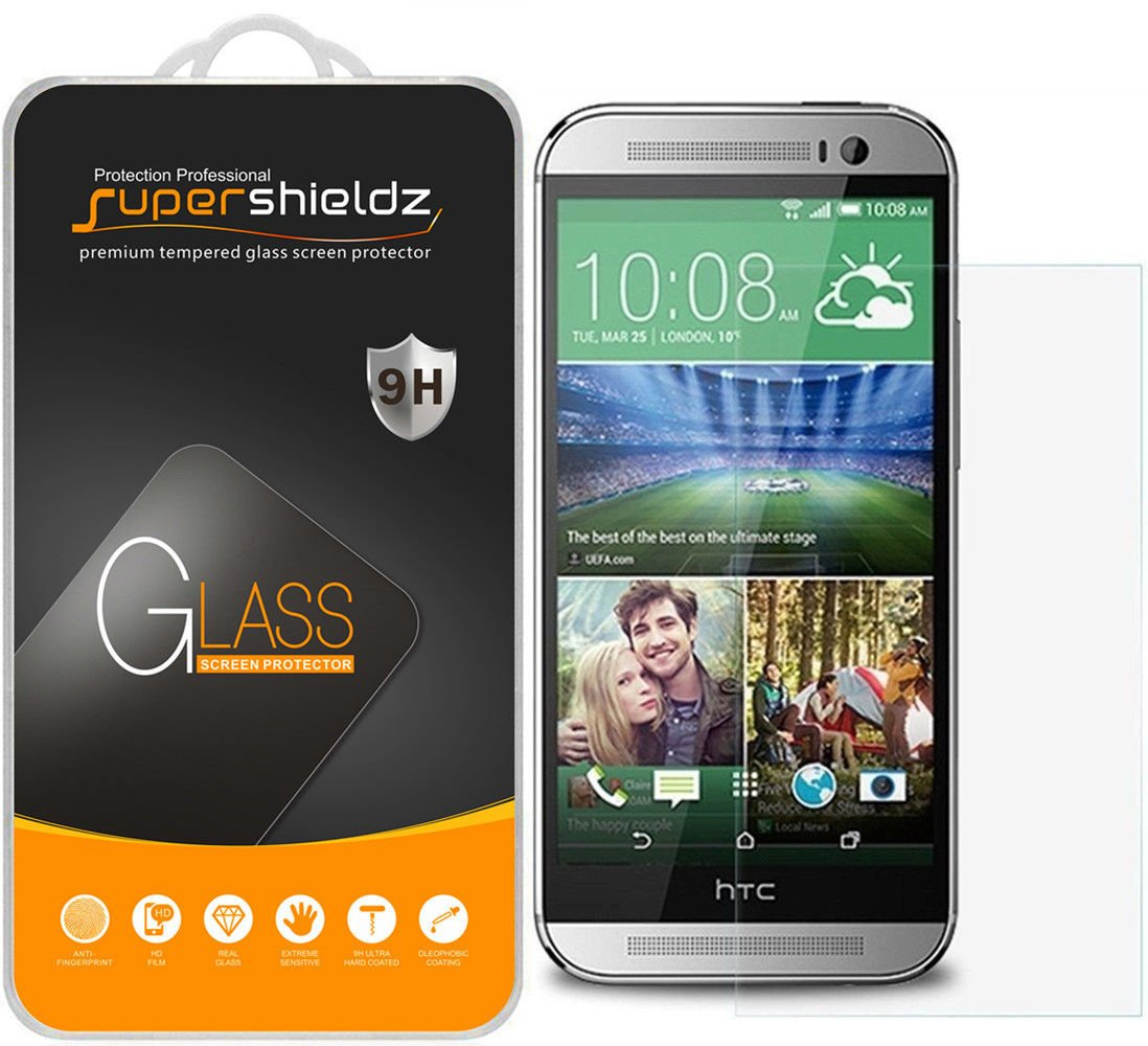 Amazon 2 Pack Supershieldz For Htc One M8 Tempered Glass