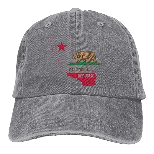4bee708cc32 ... promo code for wang california state map with flag classic cotton dad  hat adjustable plain cap