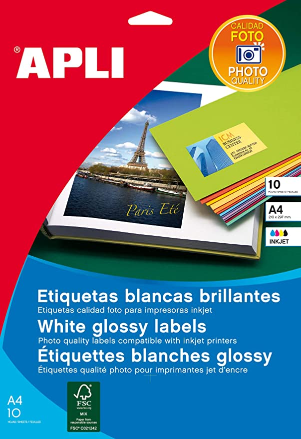 Apli 2411 - Etiquetas, 100 hojas: Amazon.es: Oficina y papelería