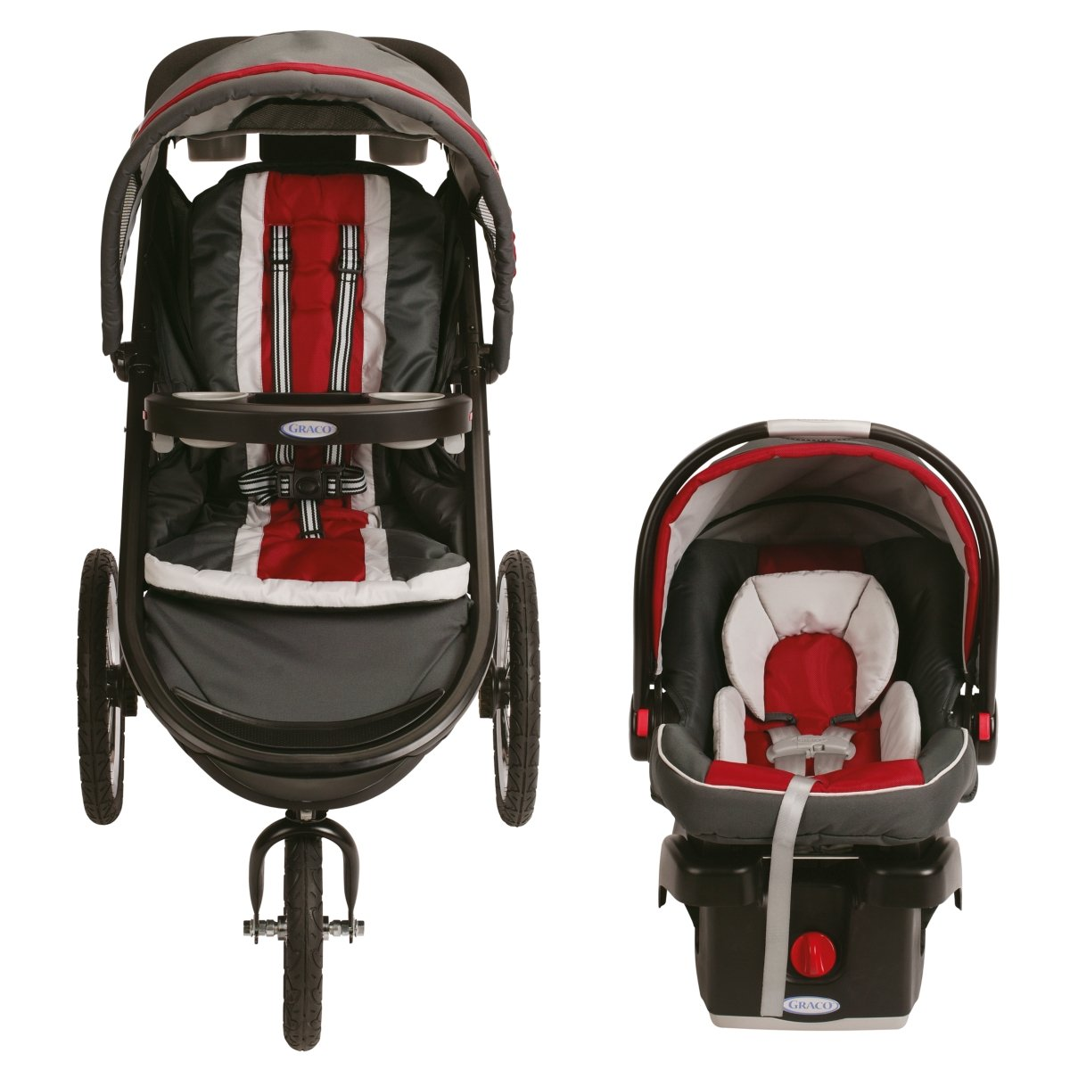 Amazon Graco FastAction Fold Jogger Click Connect Travel System Chili Red Discontinued By Manufacturer Infant Car Seat Stroller Systems