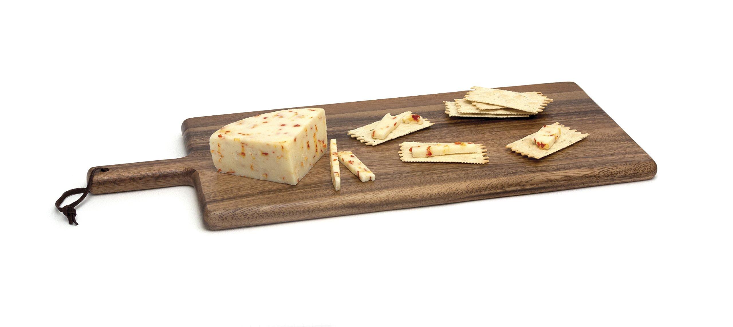 Lipper International 1028 Acacia Wood Kitchen Cutting and Serving Board, 21-1/2'' x 8-3/4'' x 3/4'' by Lipper International (Image #2)