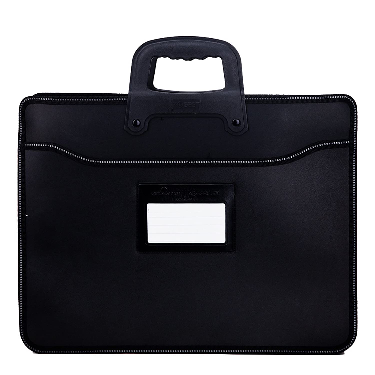 WSLCN Business Sacoche Porte Documents Serviette Porte-documents à Main Rangement Dossiers Trieur A4 Documents Homme Portable Sac et Housse Pour Bureau Commercial Ordinateur Portable Noir BB0456