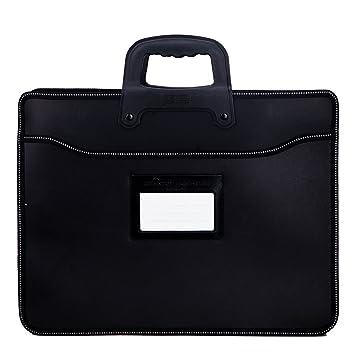 Elonglin - Maletín de negocios, portadocumentos, cartera para hombre, bolso de mano para