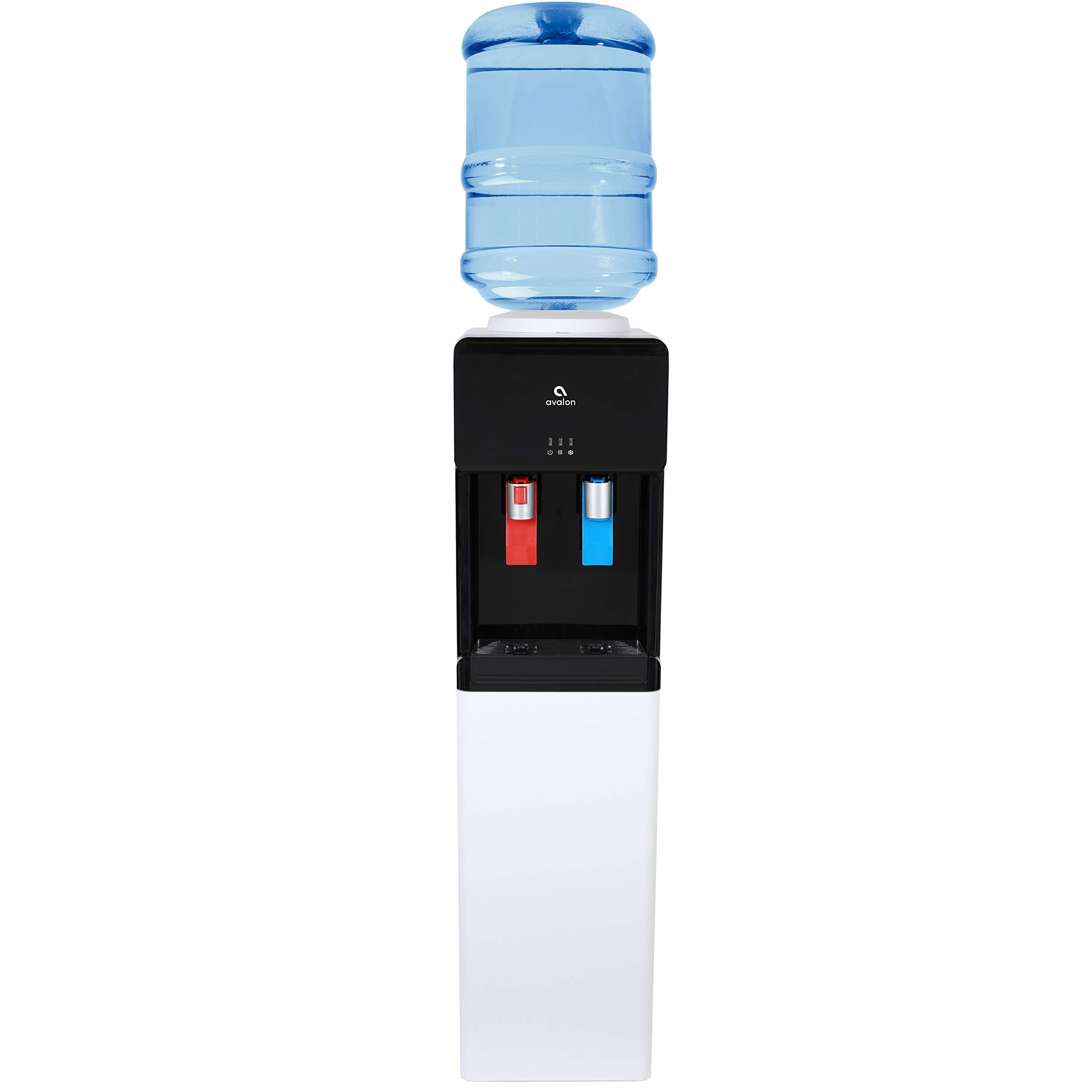 Avalon Top Loading Water Cooler Dispenser - Hot & Cold Water, Child Safety Lock, Innovative Ultra Slim Design, Holds 3 or 5 Gallon Bottles - UL/Energy Star Approved (Renewed)
