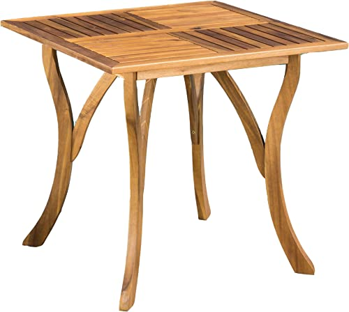 Christopher Knight Home Hermosa Acacia Wood Square Table