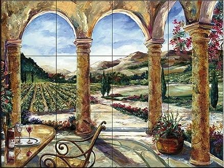 Vasca Da Bagno Karen : Ceramic tile mural sedona portico da karen stene splashback