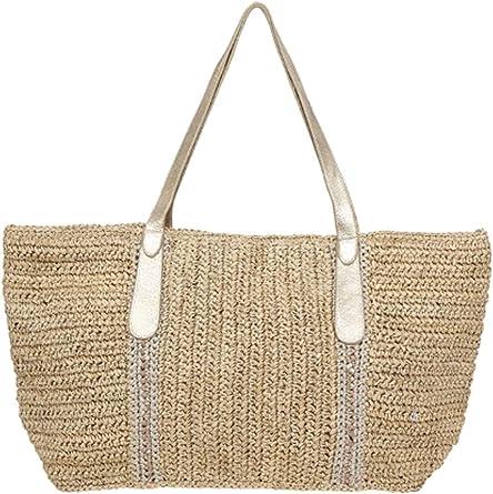 reflujo Hueco metal  Amazon.com: Florabella la femme bolsa de rafia bolsa bolsa de playa grande:  Florabella: Clothing