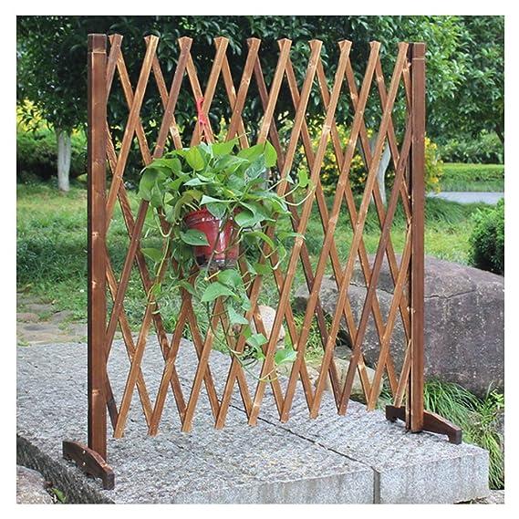 ZHANWEI Valla de jardín Bordura de jardín Madera Maciza Patio Barandilla Decorativo Enredadera Estante Rastra Pared, 2 Estilos, 4 Tamaños (Color : B, Size : 240x120cm): Amazon.es: Jardín