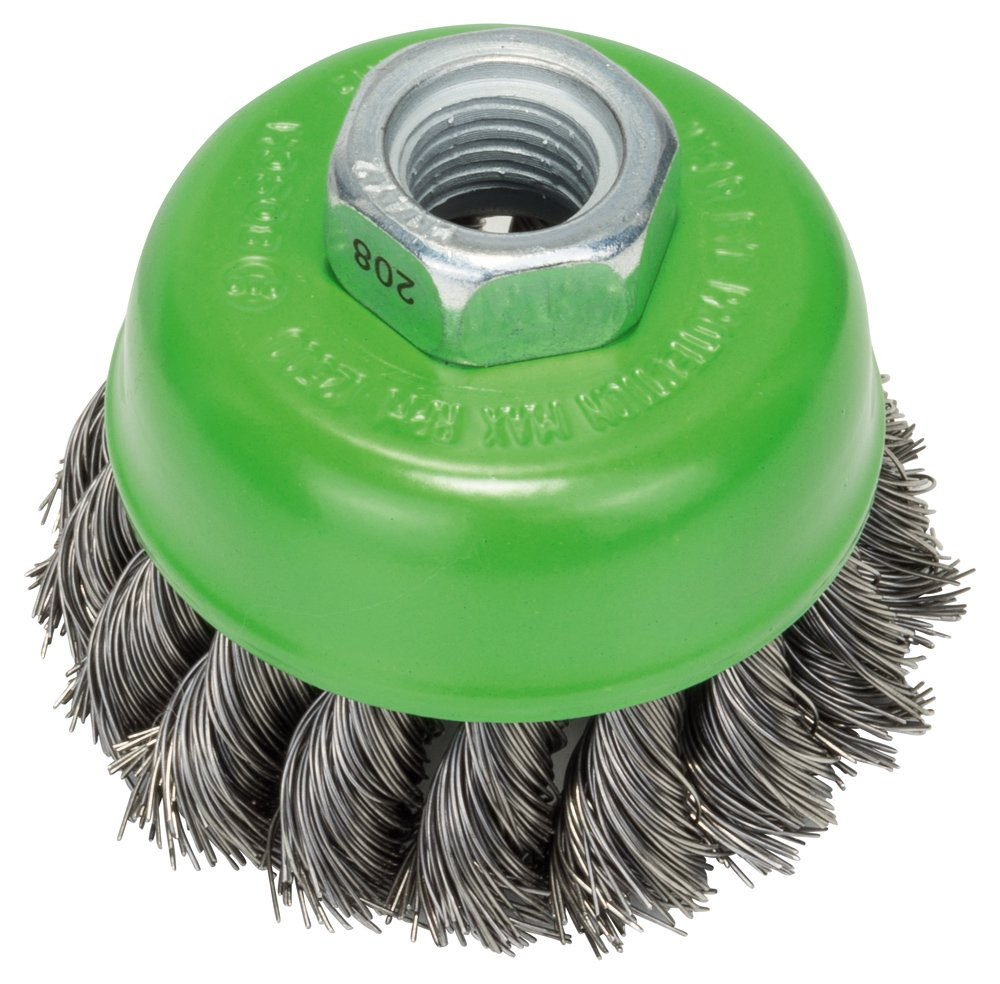 Bosch 2608622102 Wire Cup Brush, Stainless, Silver, 75 mm