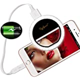 Raphycool Selfie Light Ring Lights 36 LED Circle Light Clip-On Phone Charger 1500mAh Power Bank Rechargeable Compatible for C