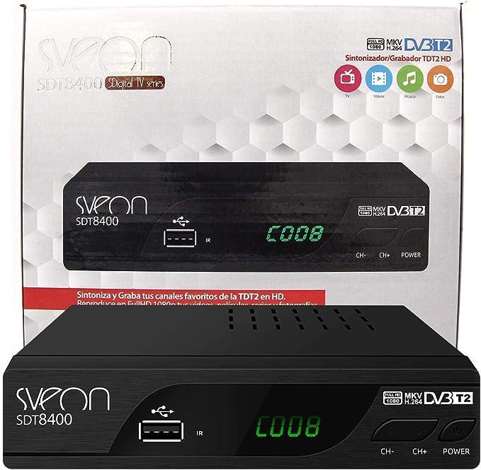 Sveon SDT8400 - Sintonizador TDT2 HD con Funciones de Grabación: Amazon.es: Electrónica
