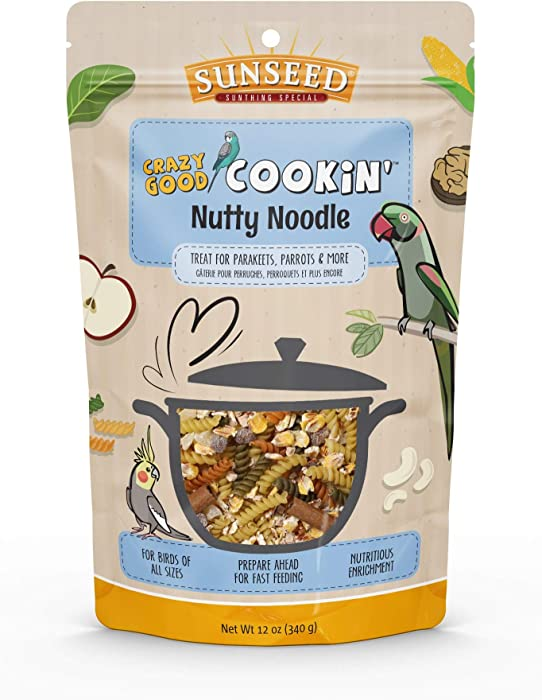 Sunseed Crazy Good Cookin Bird Treat, 12 Ounces, Nutty Noodle with Pineapple and Apricot