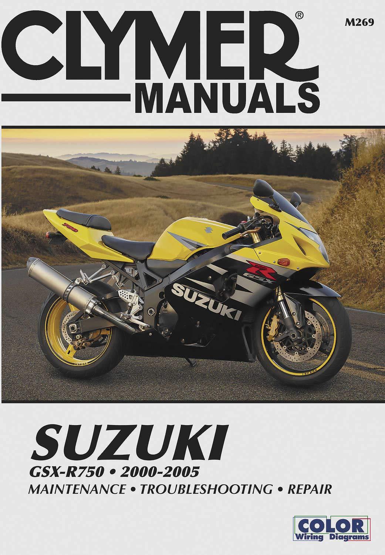 Clymer Publications Suzuki Gsxr 750 00-05 Manual Suz Gsxr 750 00 05 M269 New