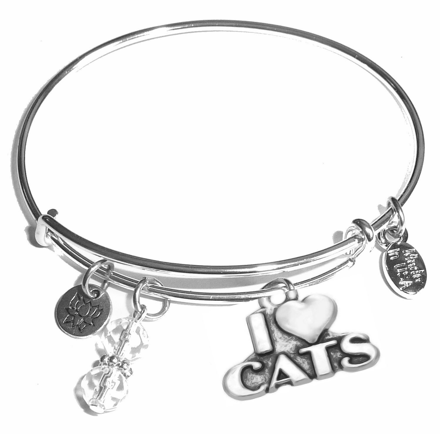 Hidden Hollow Beads Message Charm (84 Options) Expandable Wire Bangle Bracelet, in the popular style, COMES IN A GIFT BOX! COMES IN A GIFT BOX! (Aunt) Bangle Message bracelet